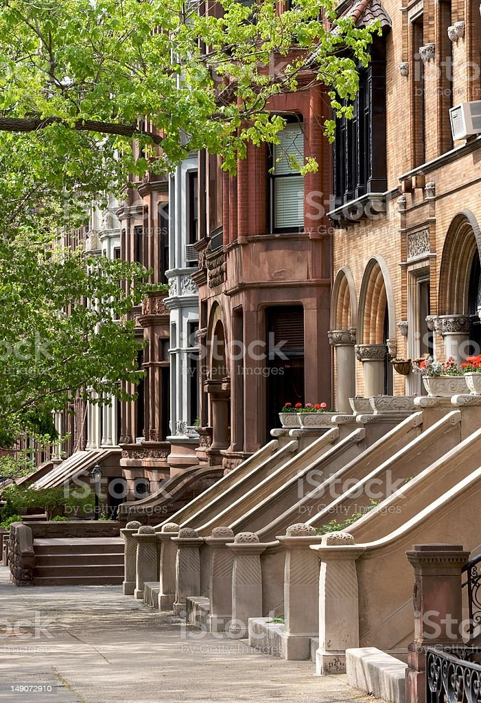 Brownstone in Brooklyn stock photo