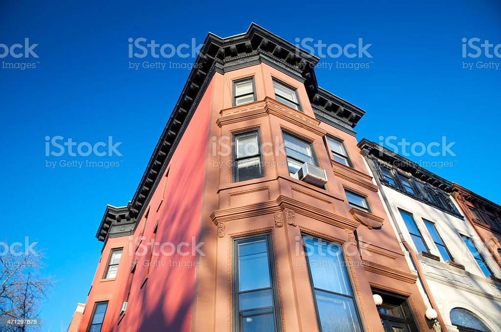 Brownstone residential building, Park Slope, Brooklyn, New York City, USA royalty-free stock photo