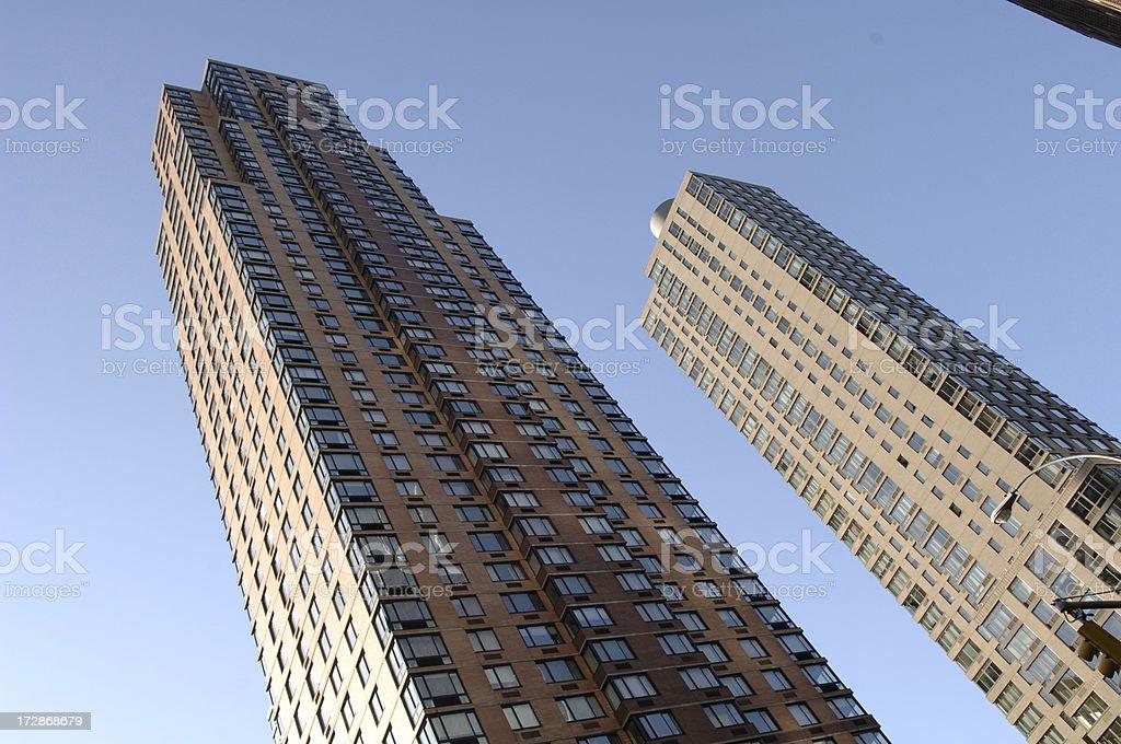 Brownstone skyscraper in New York stock photo