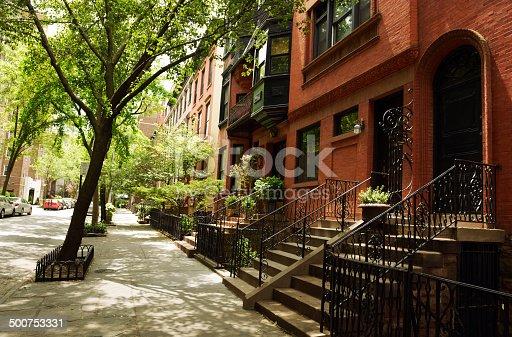 108220043 istock photo Brownstone,Brooklyn,NYC 500753331