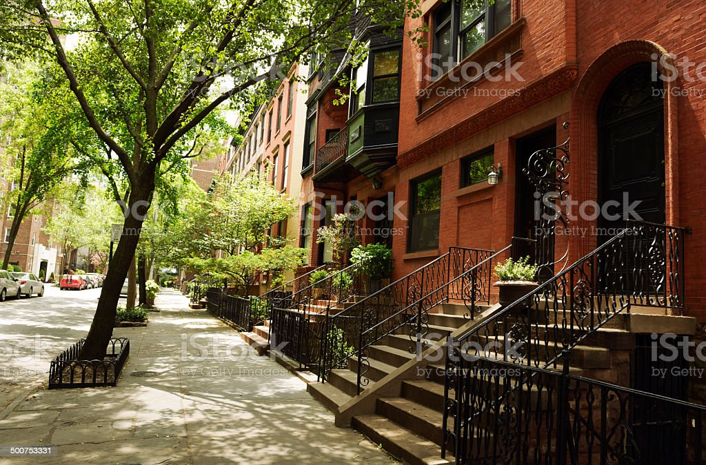 Brownstone,Brooklyn,NYC stock photo