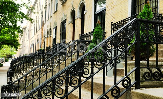 Brownstones, Harlem, NYC.