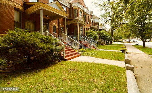 Luxury homes, Oak Park, Chicago, USA.