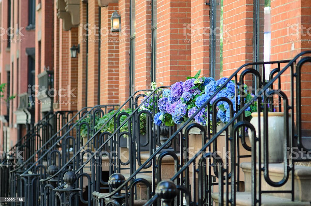 Brownstones of Brooklyn stock photo