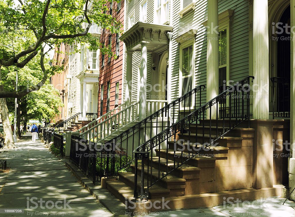 Brownstones,NYC. royalty-free stock photo