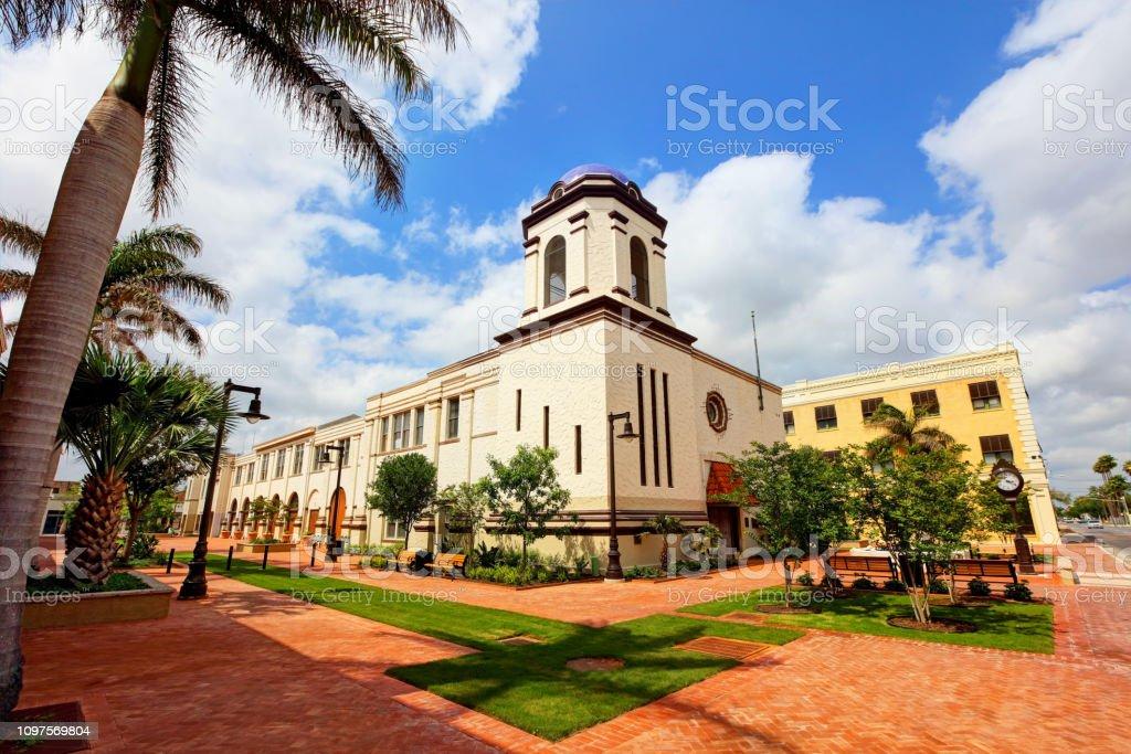 Brownsville, Texas City Hall stock photo