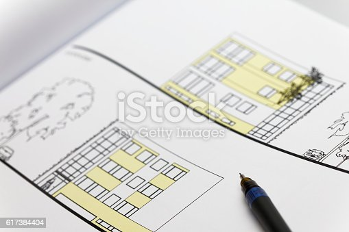 istock Browse through architectonic portfolio 617384404