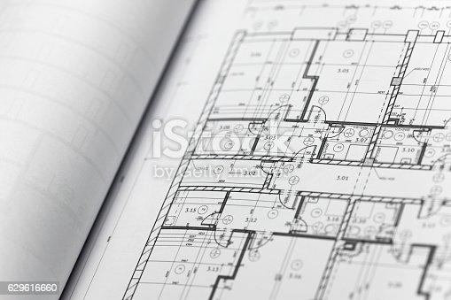 617749876 istock photo Browse through architectonic portfolio 629616660