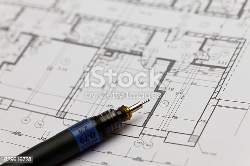 istock Browse through architectonic portfolio 629616728