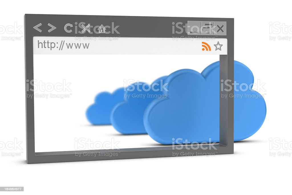 Browser and Cloud Computing royalty-free stock photo