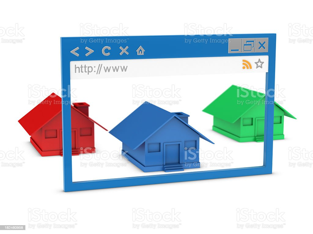Browser and Houses royalty-free stock photo