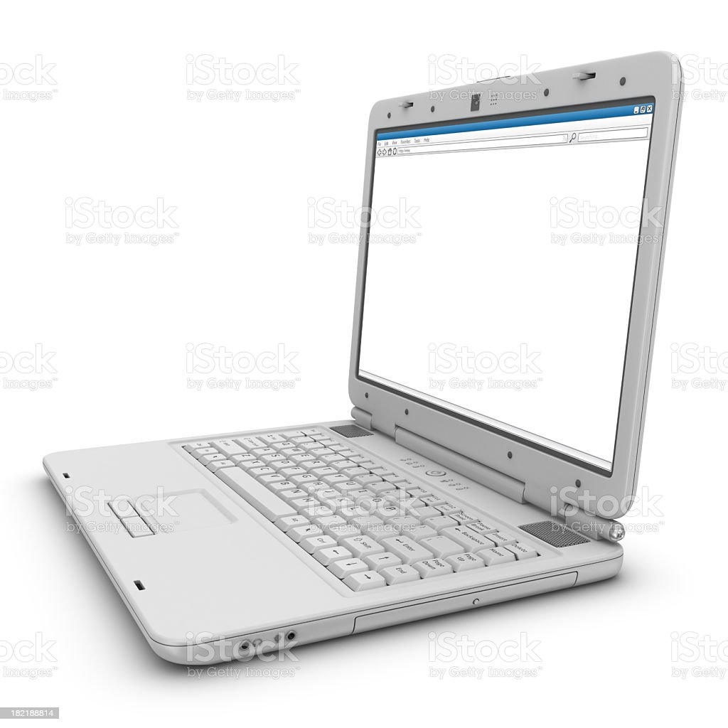 browser on notebook screen royalty-free stock photo