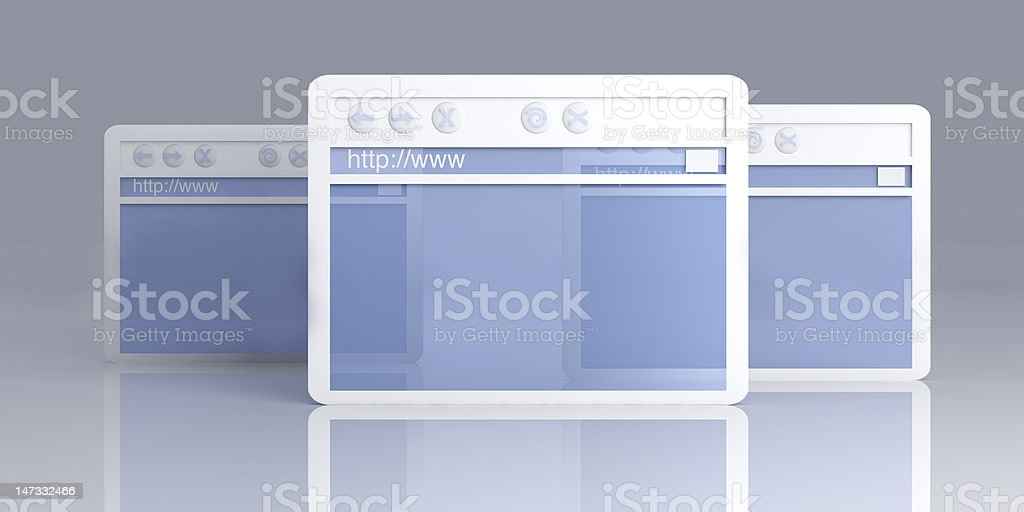Browser Windows stock photo