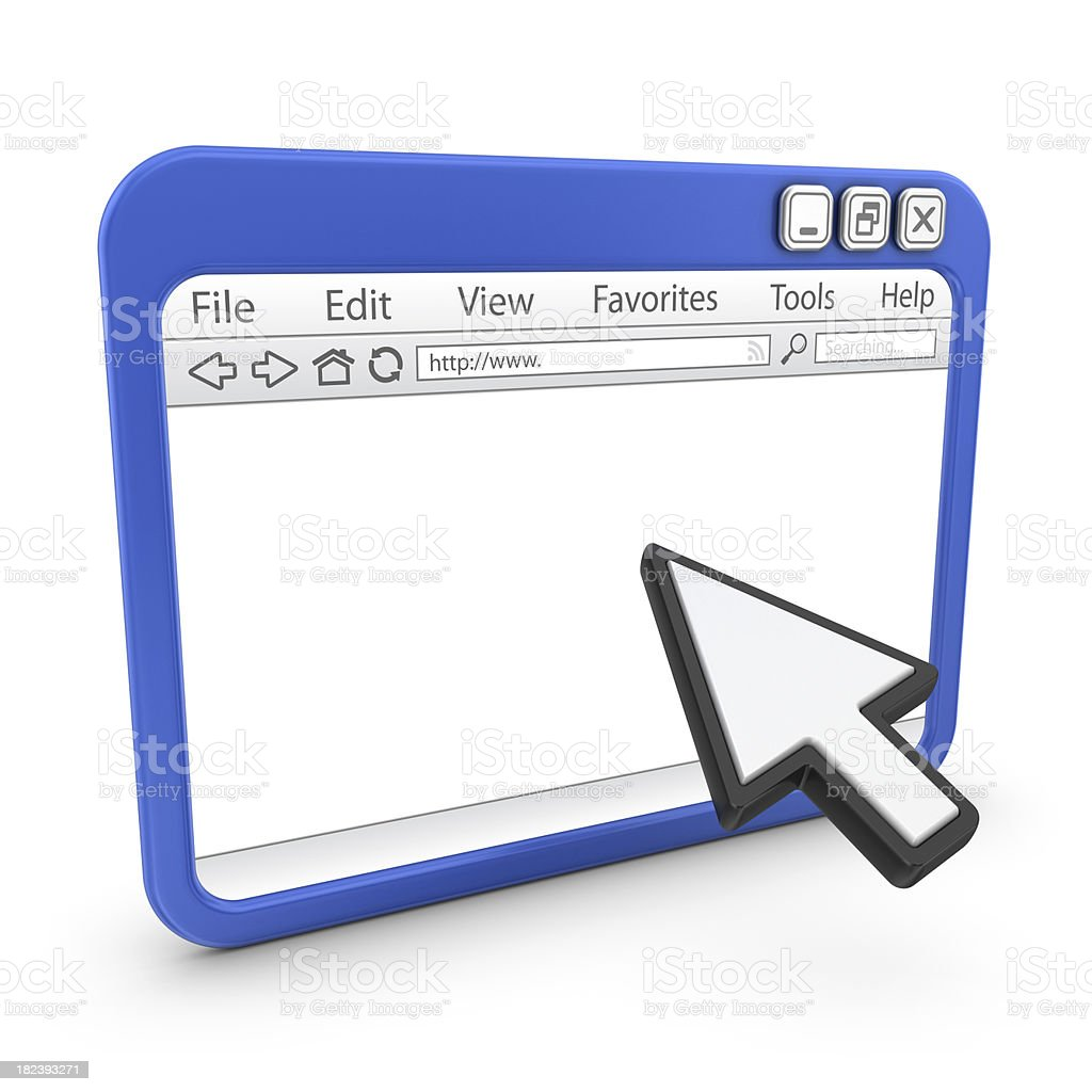 browser with arrow cursor royalty-free stock photo