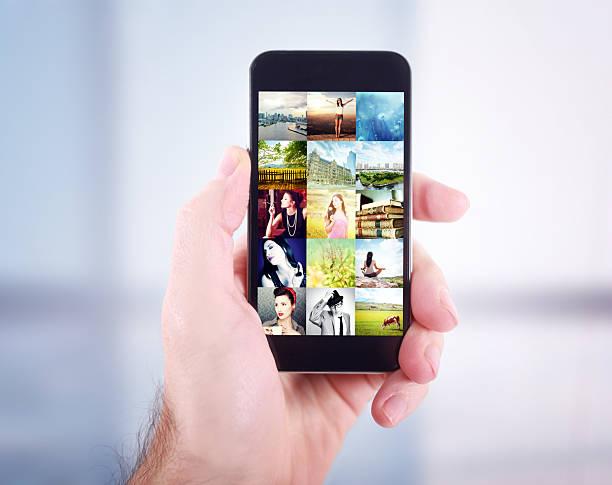 Parcourir la galerie de photos sur smartphone - Photo