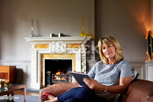 498296950istockphoto Browsing by the fire 536757566