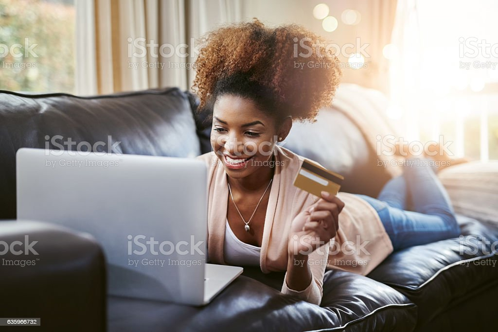Browsing for bargains stock photo