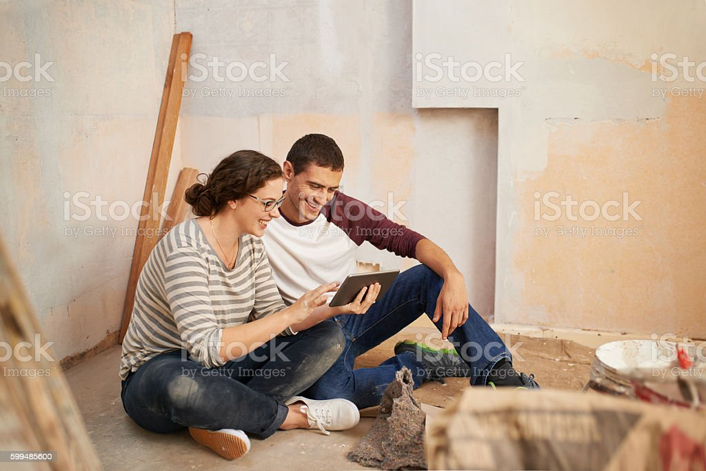 Browsing For Home Decor Tips On The Web Stock Photo More Pictures