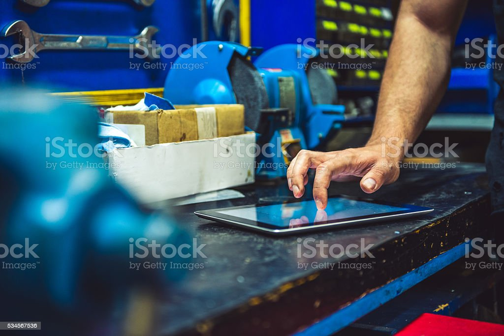 Browsing the internet stock photo