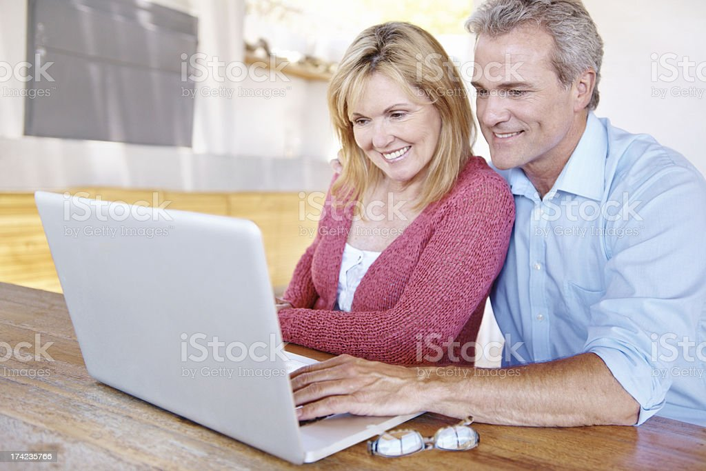 Browsing the net together royalty-free stock photo