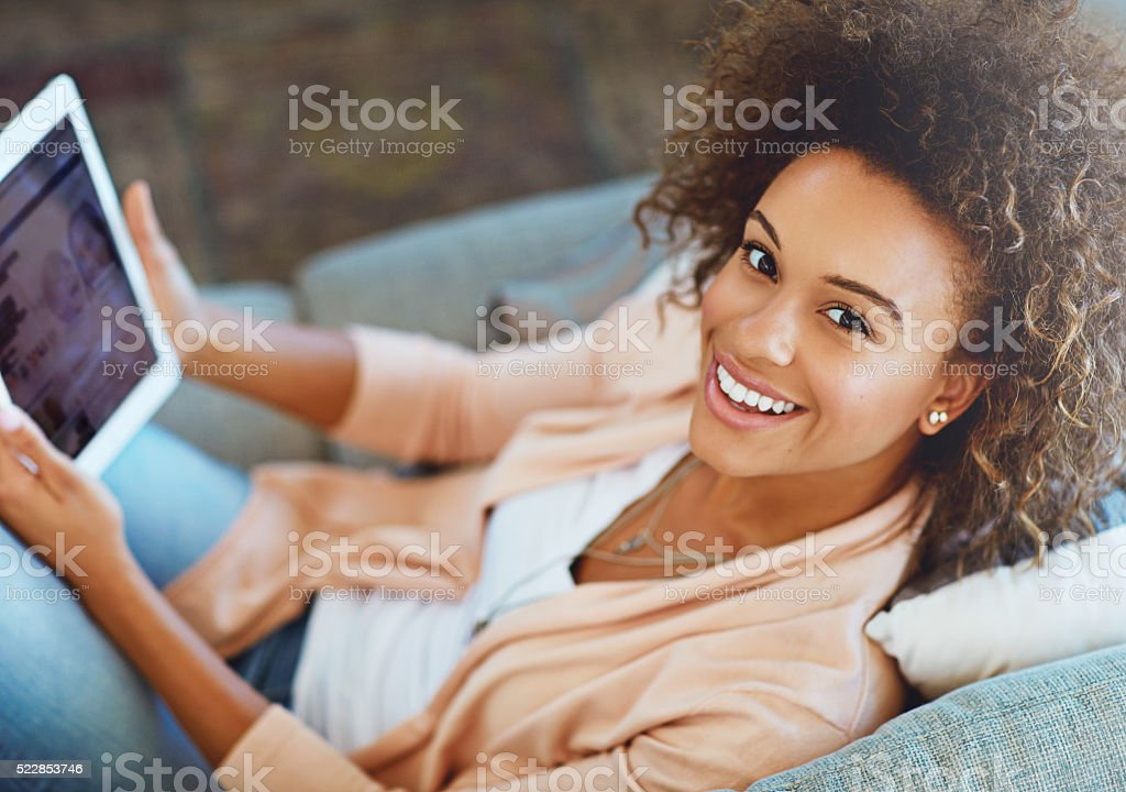 Browsing the web is the best way to relax stock photo