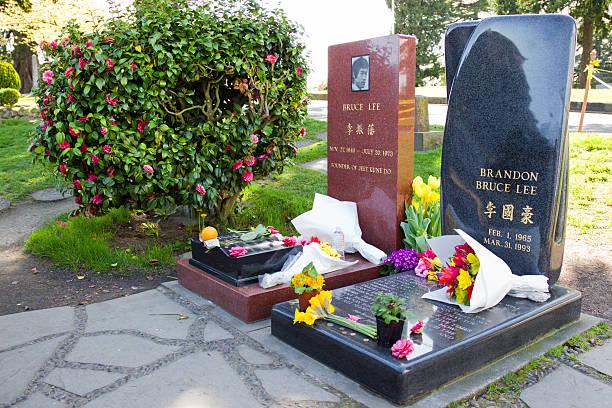 Bruce e Brandon Lee's Grave - foto de acervo