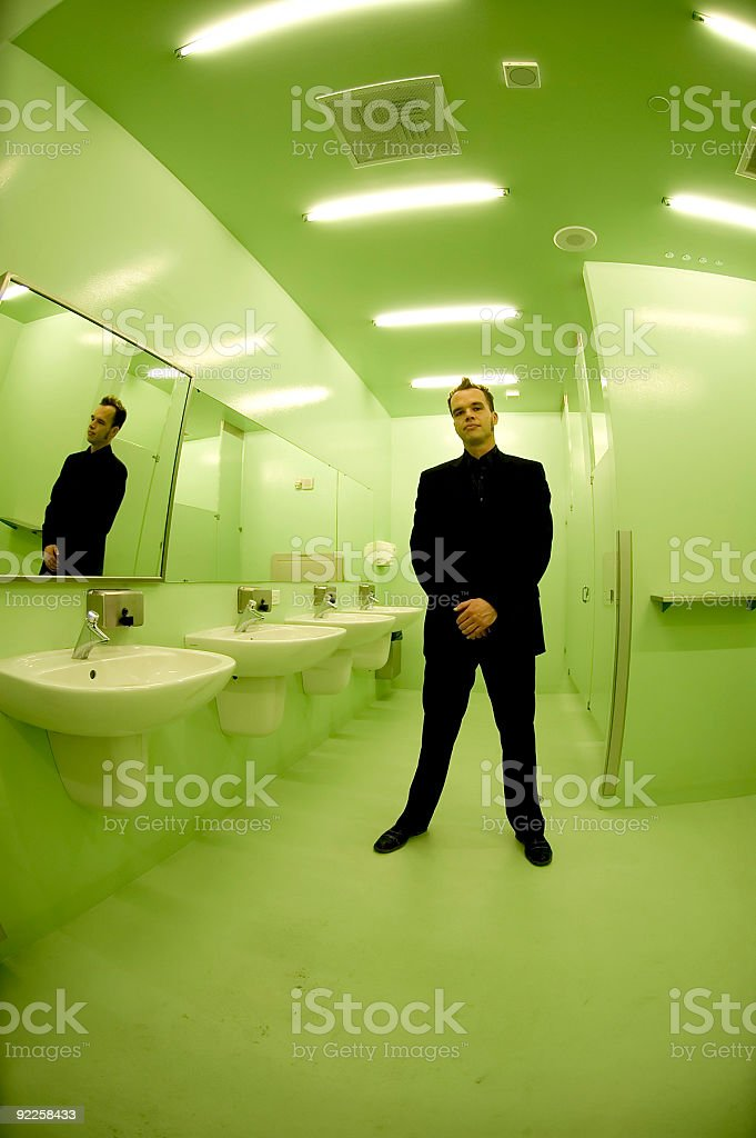 Bruce - Green Restroom 1 royalty-free stock photo