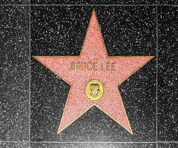 Bruce Lees estrela na calçada da fama de Hollywood - foto de acervo
