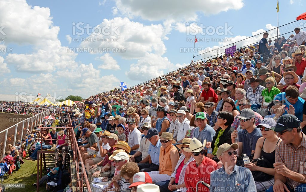 Bruce Stampede Rodeo Fans stock photo