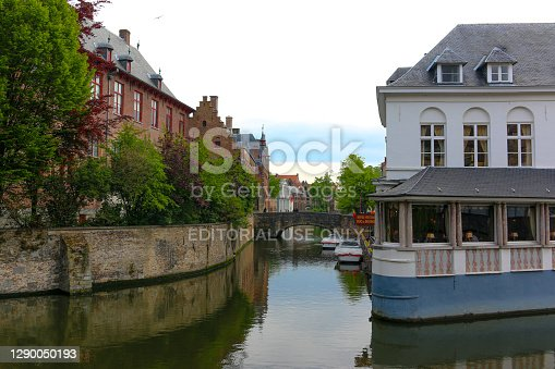 Belgian World Heritage Site Experienced by Canal Cruise./ Brugge, Belgium/ 05-07-2019