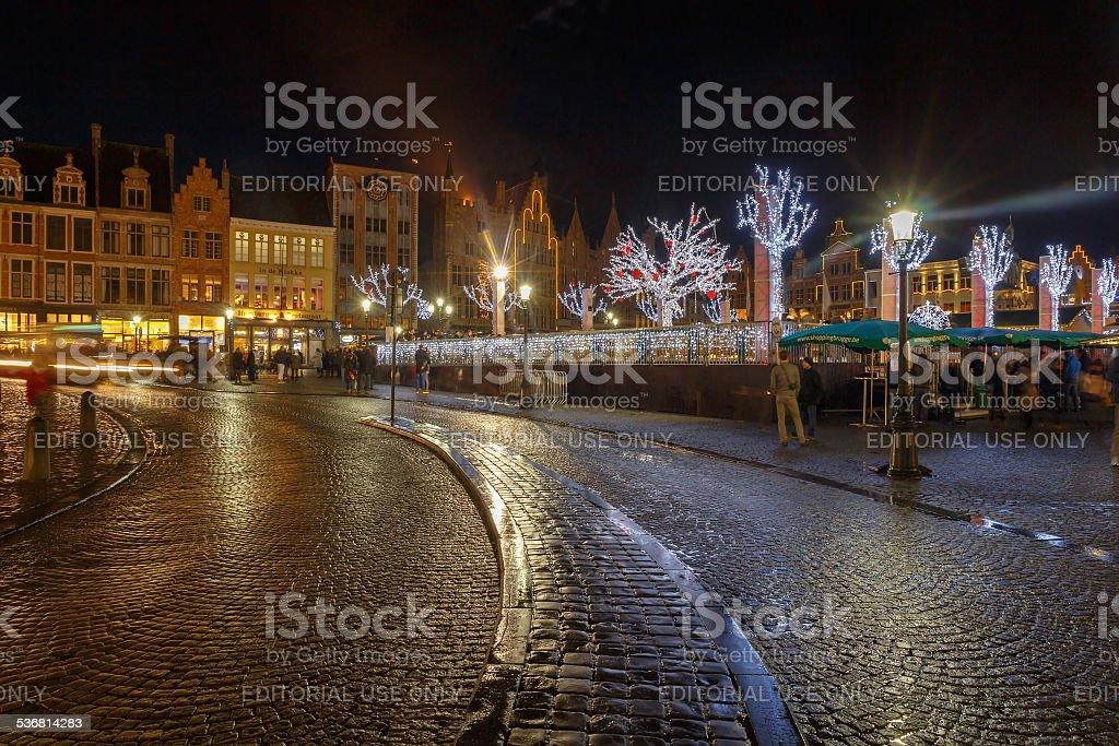 Bruges à Noël. - Photo