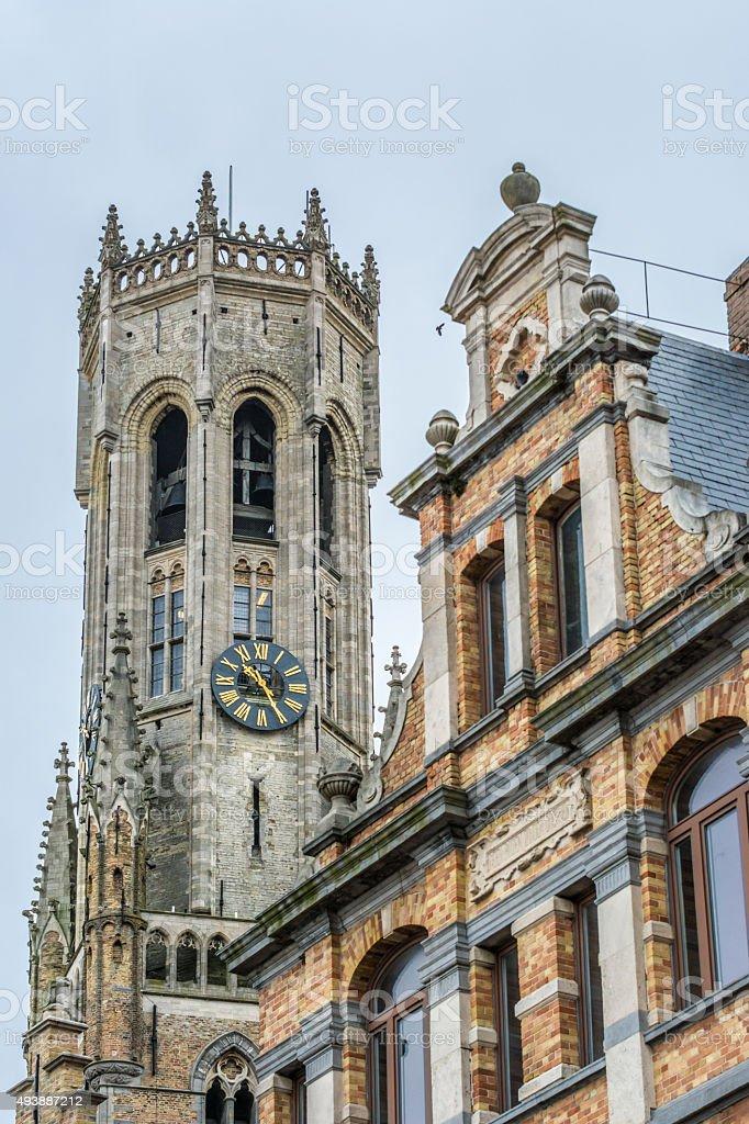 Bruges - Belfry stock photo