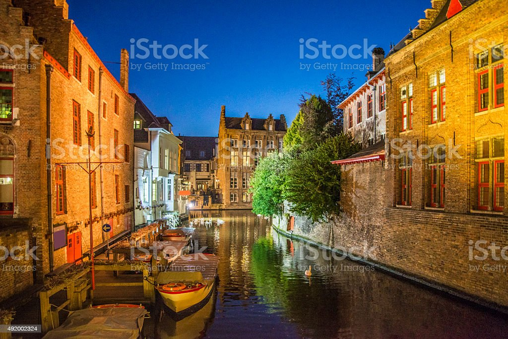 Bruges par nuit - Photo