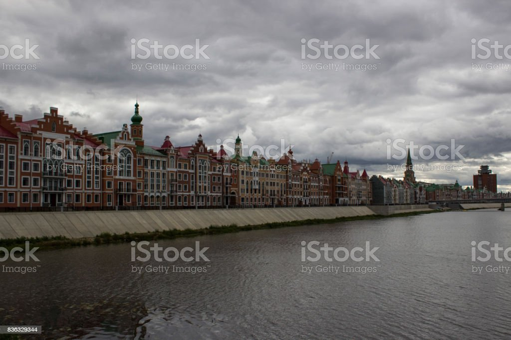 Bruges embankment stock photo
