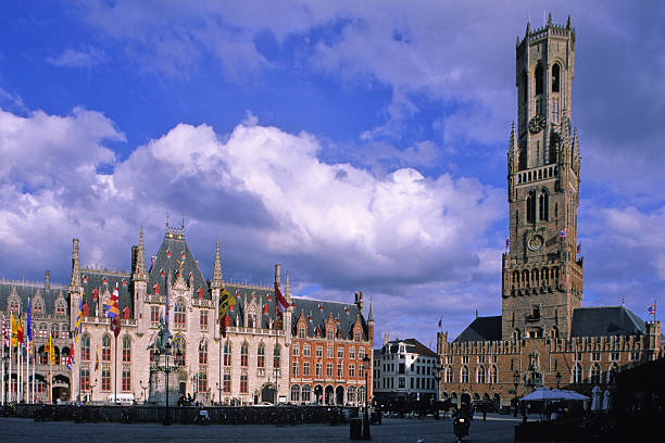 Bruges et son beffroi stock photo
