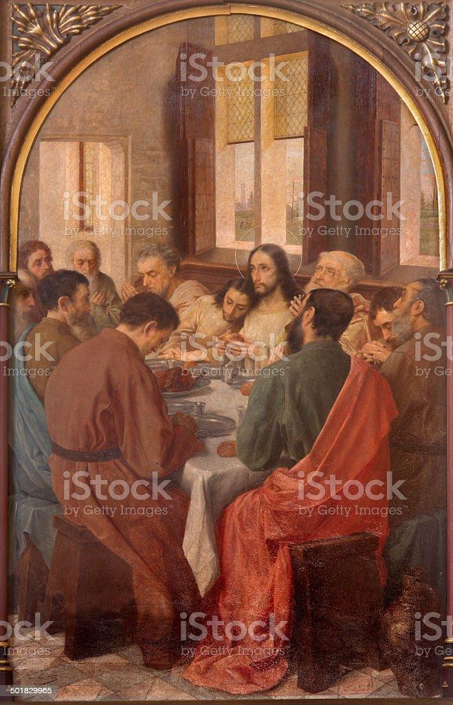 Brügge – letzten Abendmahls Jesu in st. Giles-Kirche – Foto