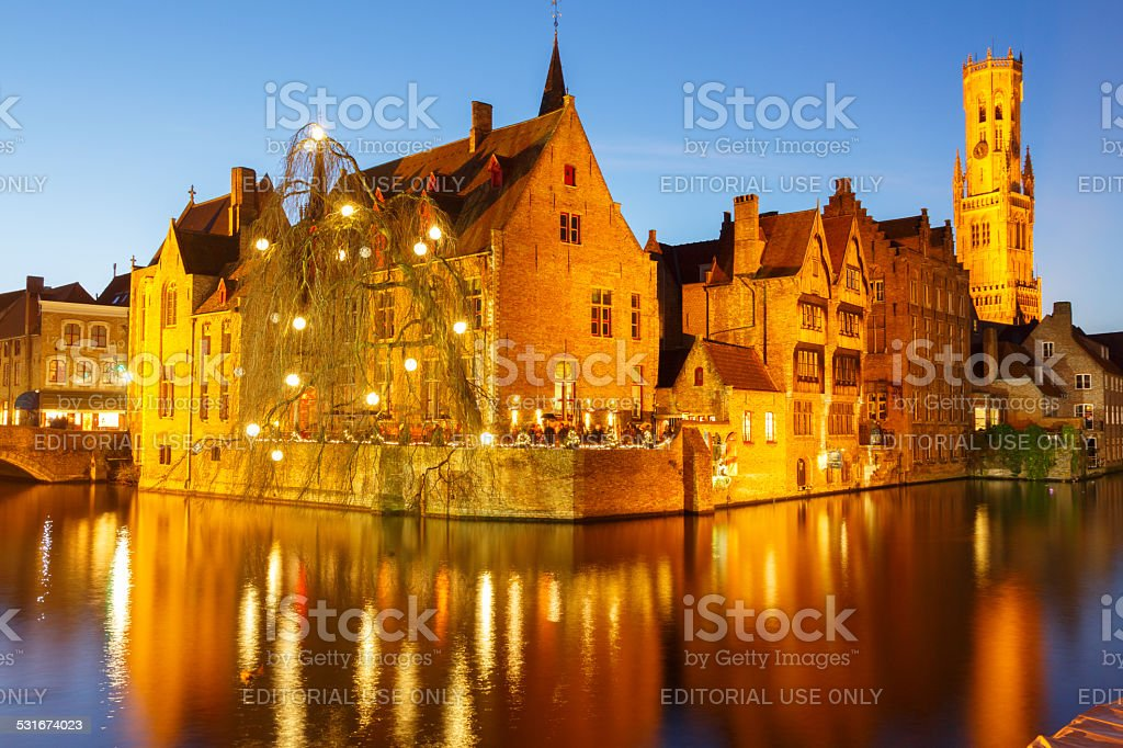 Bruges. Quai du Rosaire. - Photo