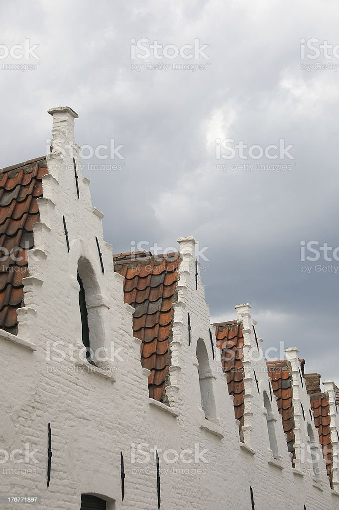 Bruges' roofs royalty-free stock photo