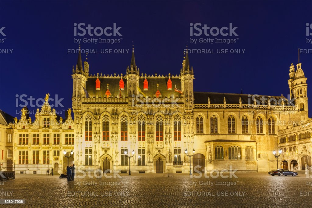 Bruges - the City Hall, Belgium stock photo