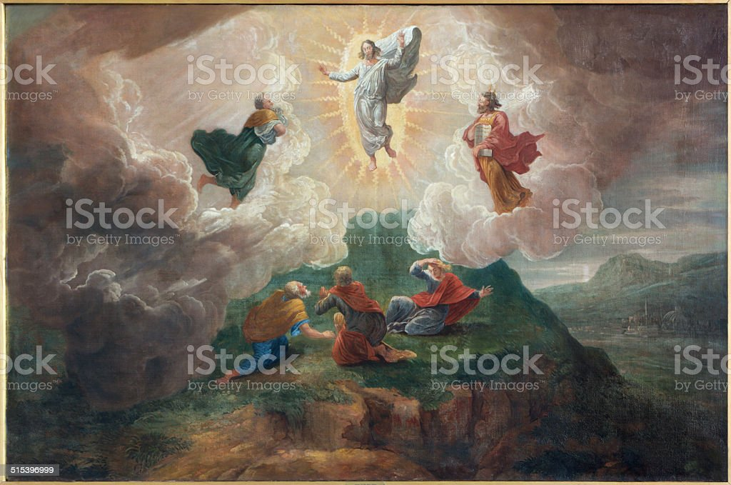 Bruges - Transfiguration of the Lord  in st. Jacobs church stock photo