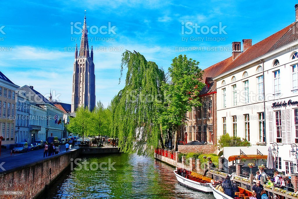 Brugge, Belgium - May 06, 2016 - Cityscape of Brugge stock photo