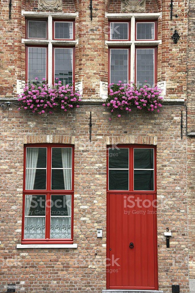 Brugge street royalty-free stock photo