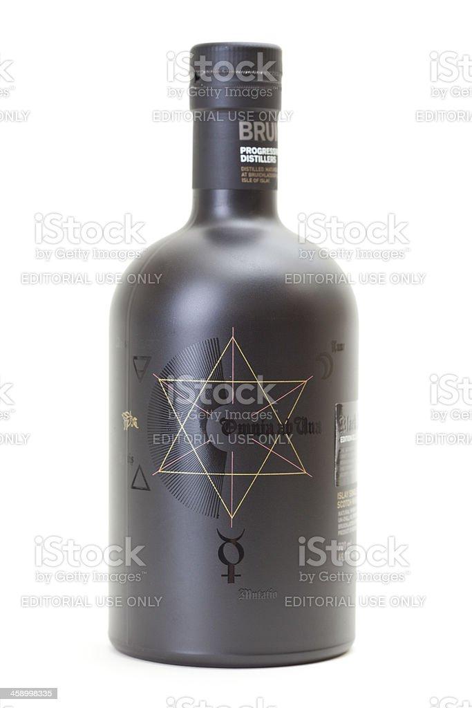 Bruichladdich 21year Black Art Scotch Whiskey stock photo