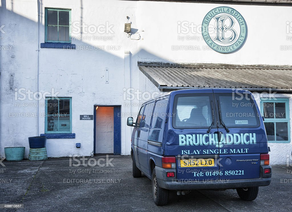 Bruichladdich Distillery stock photo