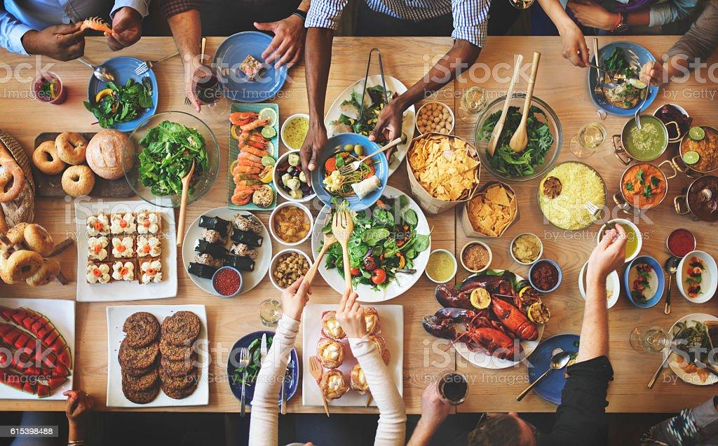 Brunch Im Wahl Menge Restaurants Speisen Essenkonzept ...