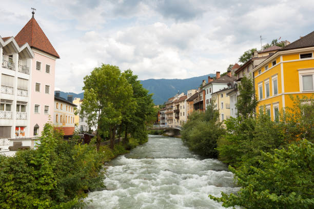 Bruneck town in Italy Bruneck Italy, Italian: Brunico is the largest town in the Puster Valley in the Italian province of South Tyrol. bruneck stock pictures, royalty-free photos & images