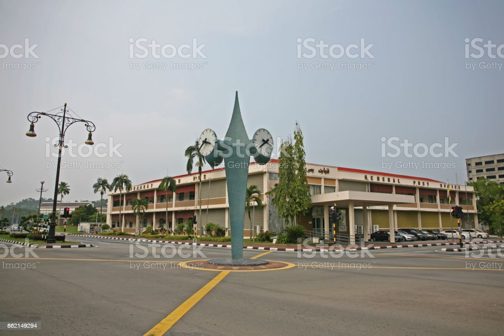 Brunei City Empty Roads In The Cbd Stock Photo - Download