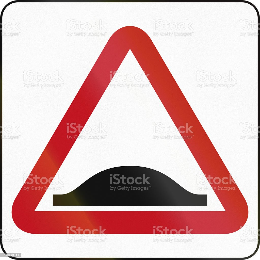 Bruneian Speed Bump Sign royalty-free stock photo