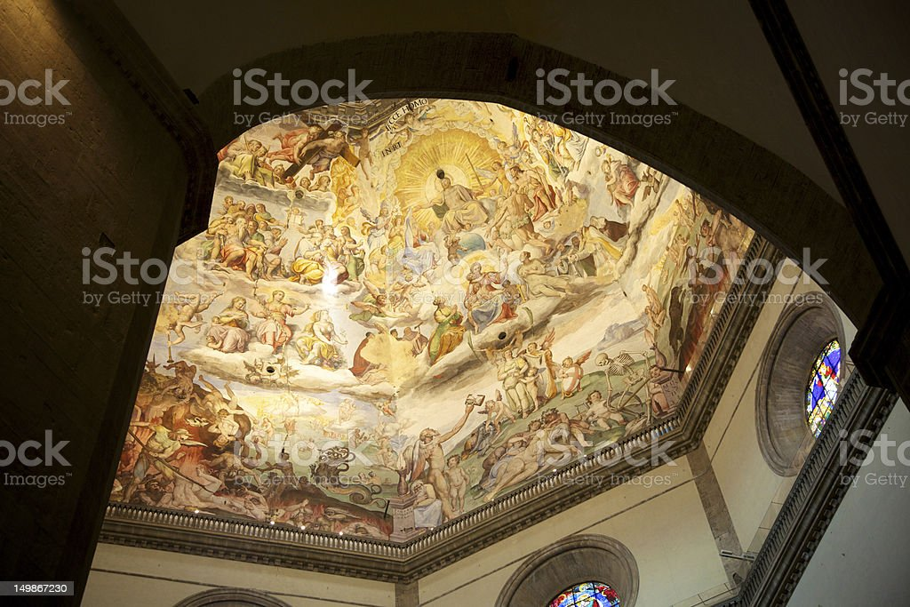 Brunelleschi Cupola, Florence Duomo, Italy royalty-free stock photo