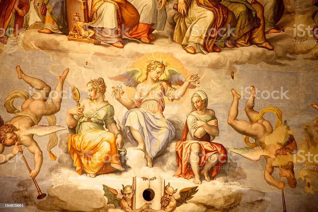 Brunelleschi Cupola del Duomo, Firenze, Italia - Foto stock royalty-free di Affresco